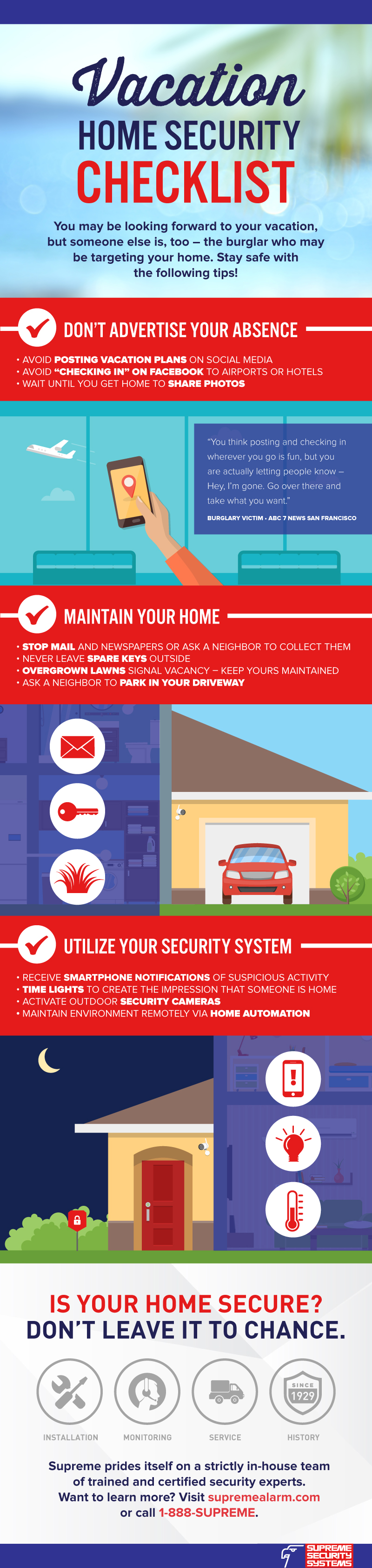 Infographic: Vacation Home Security Checklist